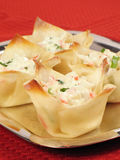 Baked Crab Rangoons Royalty Free Stock Images