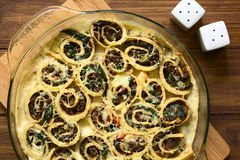 Baked Crepe Roll Casserole Stock Photography