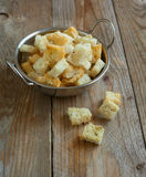 Baked croutons Stock Images