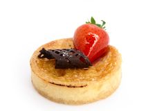 Baked Custard Tart Stock Images