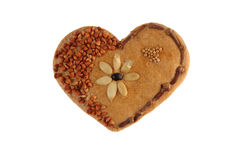 Baked decorative heart Stock Image