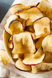 Baked Dehydrated Apples Chips Royalty Free Stock Images