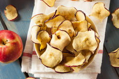 Baked Dehydrated Apples Chips Stock Image