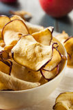 Baked Dehydrated Apples Chips Royalty Free Stock Photo