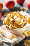 Baked Dehydrated Apples Chips Royalty Free Stock Photos