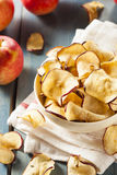 Baked Dehydrated Apples Chips Stock Photos