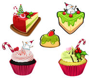 Baked desserts for christmas Stock Photo