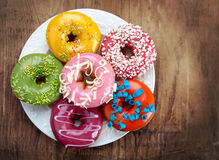 Baked donuts Stock Images