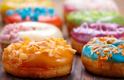 Baked donuts Stock Photos