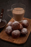 Baked doughnuts with glass of cappucino Royalty Free Stock Photo