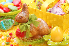 Baked easter rabbit royalty free stock photo