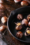 Baked edible chestnuts Royalty Free Stock Photos