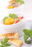 Baked egg Royalty Free Stock Images