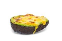 Baked egg in avocado Royalty Free Stock Photos