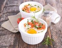 Baked egg Royalty Free Stock Photo