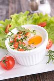 Baked egg Royalty Free Stock Photos