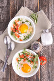 Baked egg Stock Images