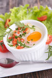 Baked egg Royalty Free Stock Image