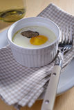 Baked egg with truffle Royalty Free Stock Photos