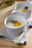 Baked egg with truffle Stock Image