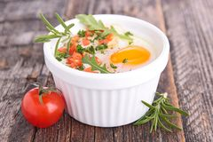 Baked egg Stock Photography
