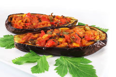 Baked eggplant Stock Images
