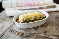 Baked eggplant with cheese Stock Image