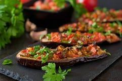 Baked eggplant Stock Image