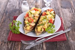 Baked eggplant with vegetables Royalty Free Stock Photos