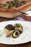 Baked eggplant and yucchini with hemp seed Royalty Free Stock Photos