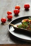 Baked eggplants Stock Photography