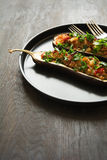 Baked eggplants Stock Images
