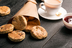Baked English biscuits Stock Photo