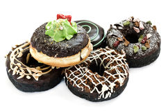Baked fancy donuts Stock Photo