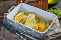 Baked Fennel with Parmesan Stock Photo