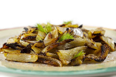 Baked fennel slices Royalty Free Stock Image