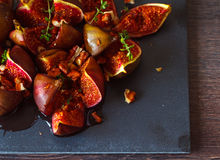 Baked figs Stock Photo