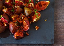 Baked figs Stock Image