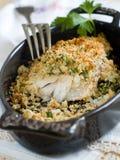 Baked fish Stock Photo