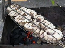 The baked fish. A shish kebab Stock Photography