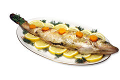Baked fish Royalty Free Stock Images