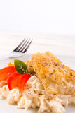 The baked fish with celery salad Stock Images
