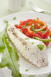 Baked Fish Dinner Vertical Stock Photography