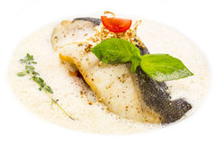 Baked fish fillets Royalty Free Stock Images