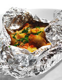 Baked Fish in Foil Stock Photo