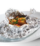 Baked Fish in Foil Royalty Free Stock Images