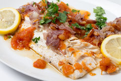 Baked fish levant style Stock Photo
