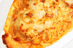Baked Fish Pasta. Italian cooking - Baked Fish Pasta Royalty Free Stock Photos
