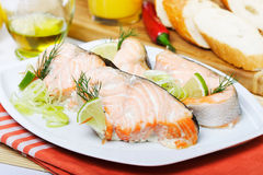 baked fish salmon Royalty Free Stock Photography