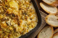 Baked Fontina Cheese Dip Stock Photos